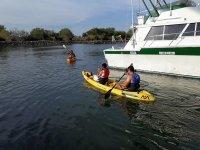 Starting the kayaking tour