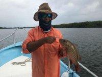 Enjoying fishing