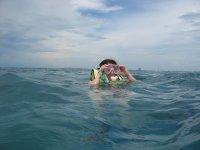Enjoying snorkeling in Nayarit