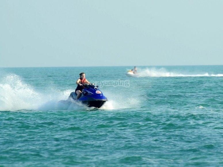 Renta de moto acuatica