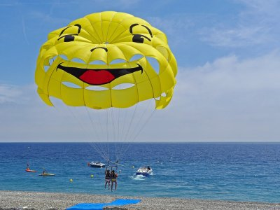 Parasailing flight and snorkling at Cancún