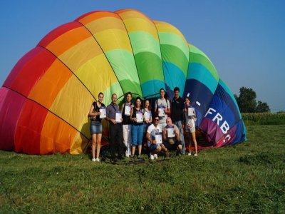 Balloon flight for friends in Huasca (Hidalgo)