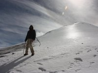 Climbing the Orizaba Peak with snow