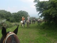 Horseback riding to the volcano