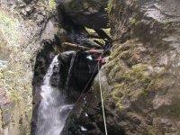 Rappel in waterfalls