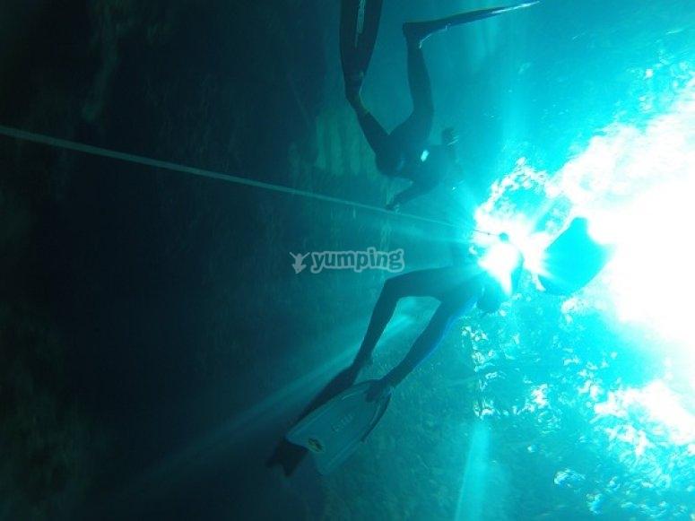 apnea en riviera maya