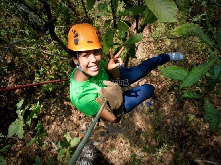 Fun on the treetop adventure park