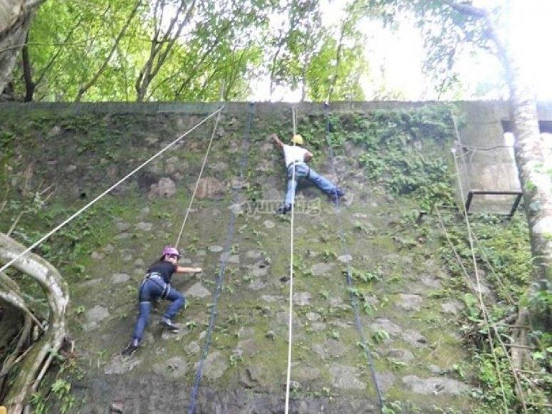 escalada en muro