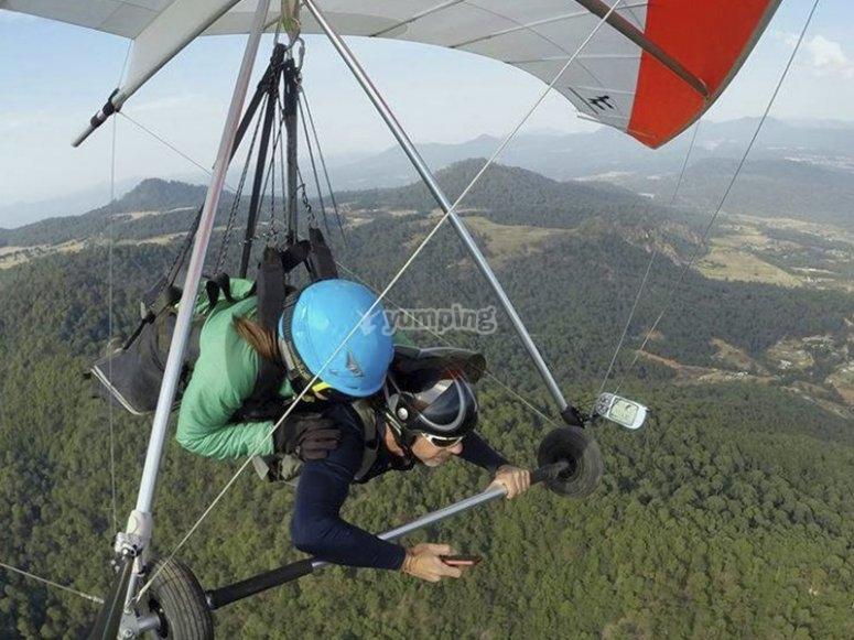 Tandem flight, is an instructor flight.
