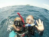 snorkeling two