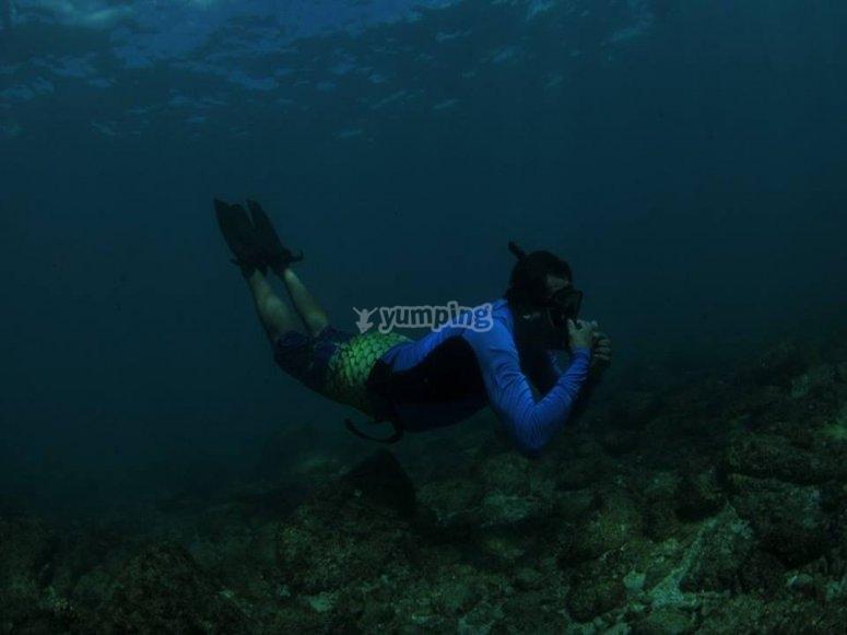 snorkeleando en los cabos