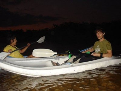 Kayak night tour on mangroves.