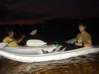 Kayak night tour on mangroves.