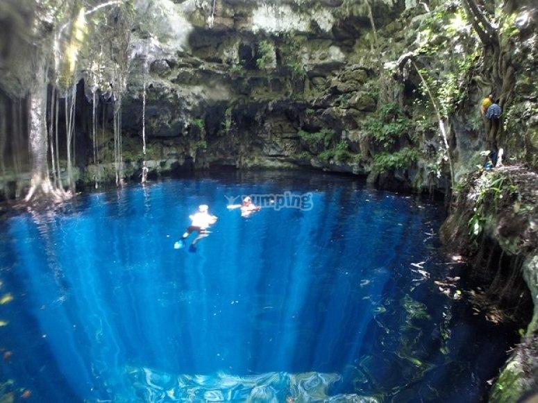 natural pools and snorkel
