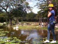slackline and natural pools