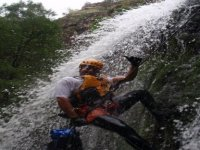 Rappelling in canyoning