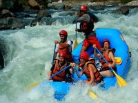 Adventure in rafting