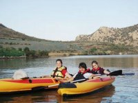 Remando los kayaks