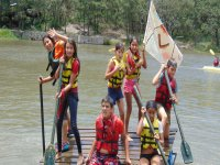 competition of rafts