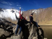 Visiting the snow-capped mountain of Toluca