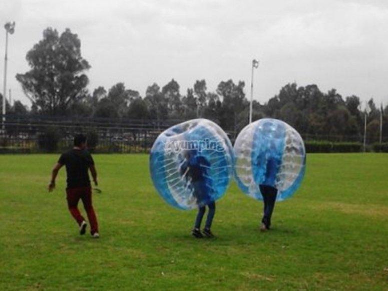 Bubble balls in Mexico City