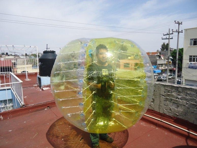 Soccer Bubble Choconas in Mexico