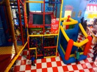 Children's games in party room