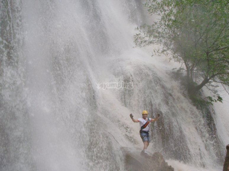 Jumping in the cascades