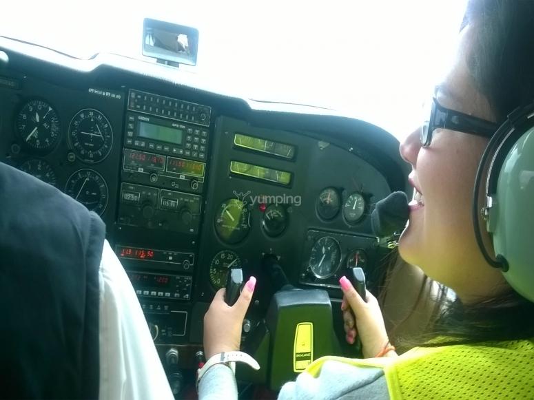 Controlando la avioneta