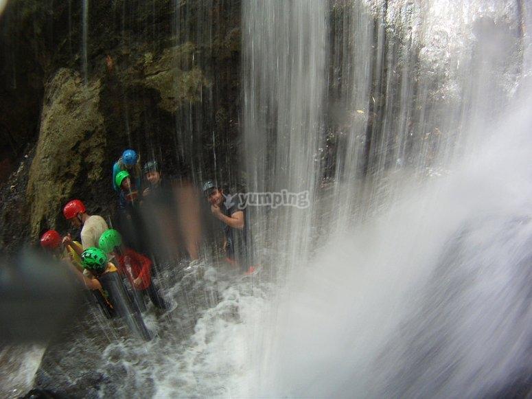 Caminata en las cascadas