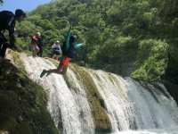 Jump in the waterfalls