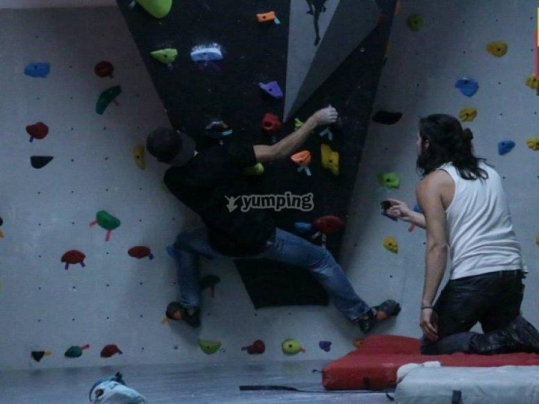 Climbing boulder