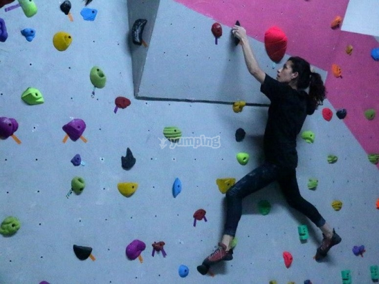 Climbing on the wall
