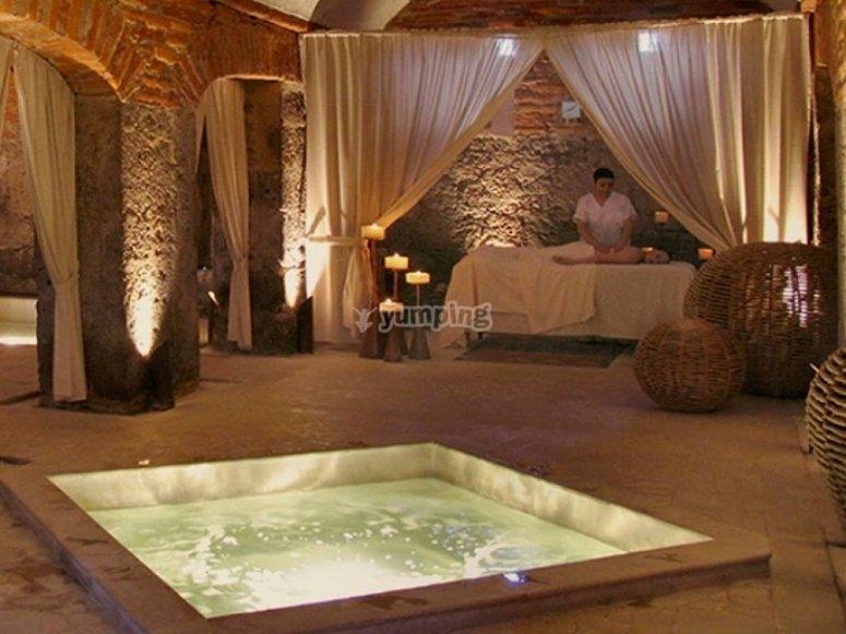 The spa of the Hacienda