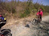 Disfrutando de la bici