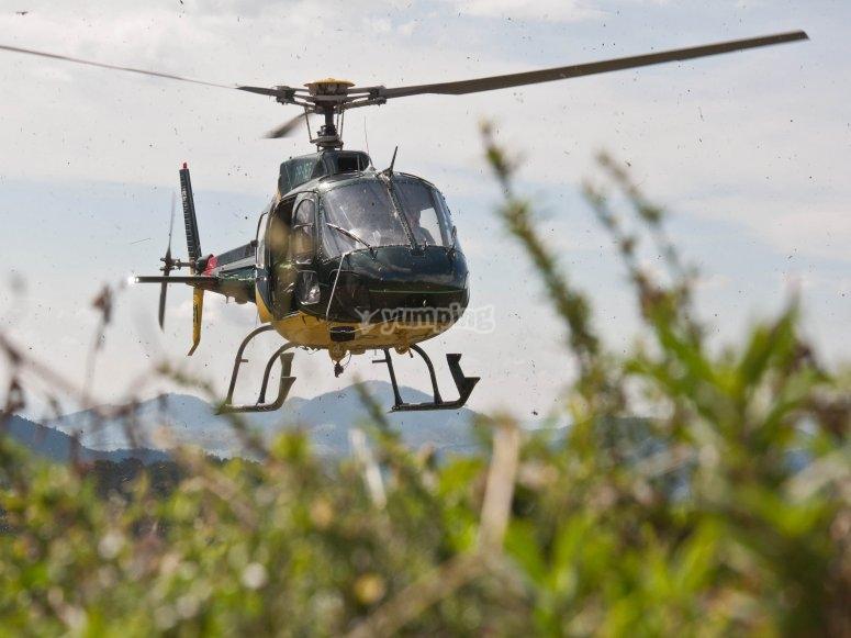 Helicoptero verde