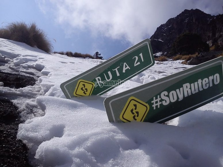 ruta al nevado de colima