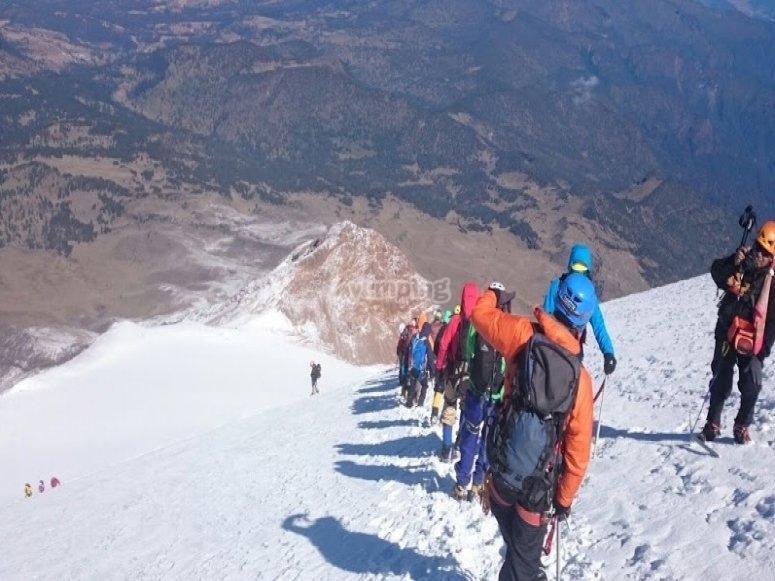 Montañismo en el pico de orizaba