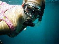 Snorkel en el mar