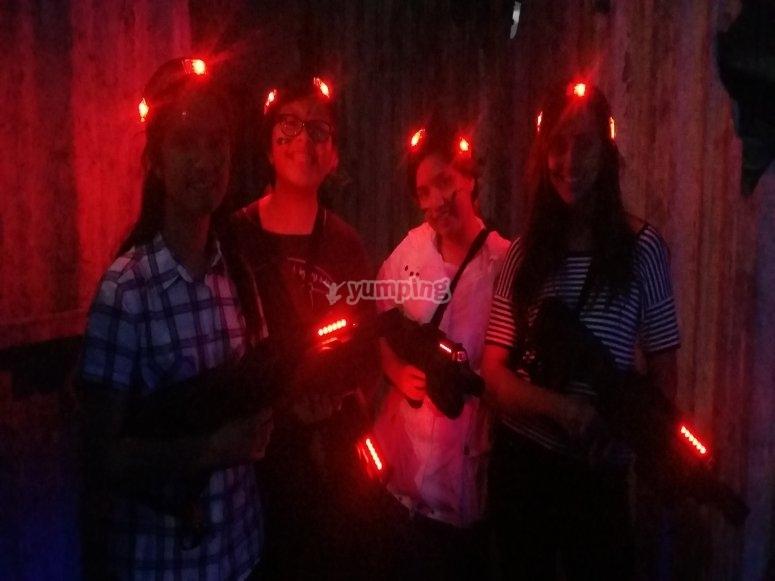 Laser installations