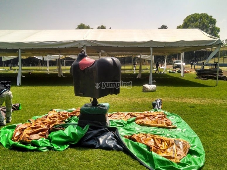 Mechanical bull for parties