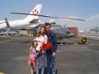 Festejando en helicóptero