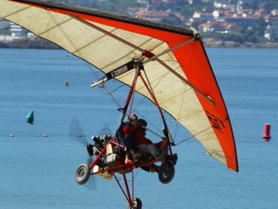 Ultralight aviation flight in Teques