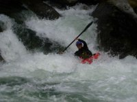 Paddle the rapids in kayak