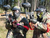 Play paintball with friends