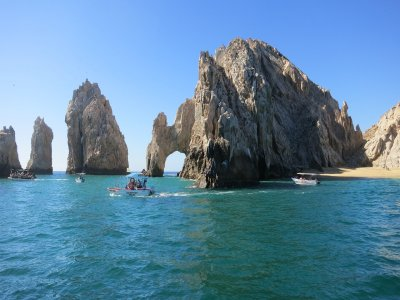 Kayak and snorkel, El Arco. Los Cabos.
