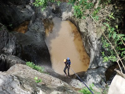 Canyoning route at Quetzalcoatl