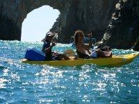 Kayak con fondo de cristal y snorkel en Los Cabos