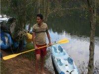 Préparé pour le kayak