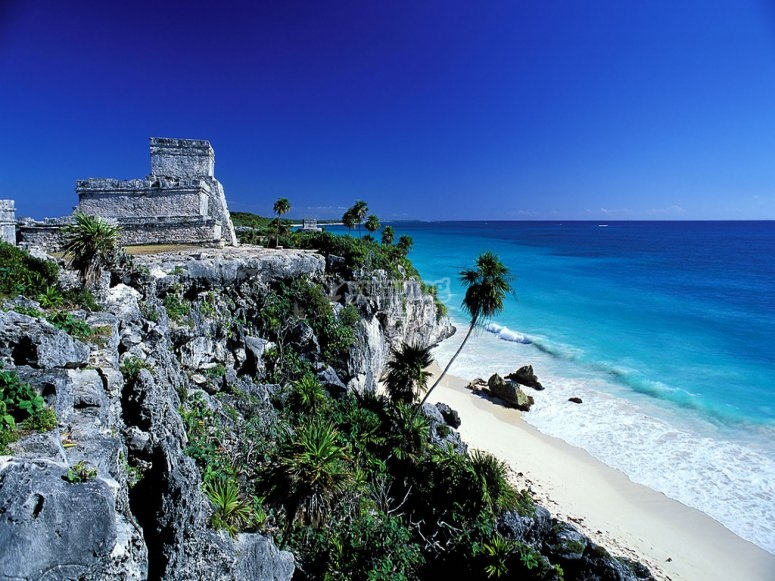 Archaeological ruins of tulum